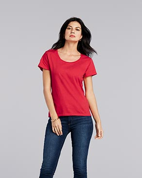 Gildan G6455L Ladies' Softstyle®  4.5 oz. Deep Scoop T-Shirt