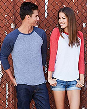Next Level 6051 Unisex Triblend 3/4-Sleeve Raglan